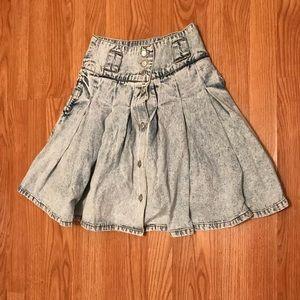 80s Vintage Jordache Denim Skirt